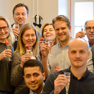 Celebration at the Växjö office